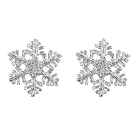 Buy Snowflake Stud Earrings Jewelry online in Norway