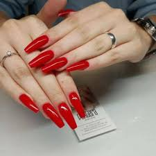 red long nails coffin - Google Search