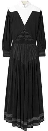 Open-back Two-tone Jersey Maxi Dress