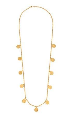 Long Gold-Plated Coin Necklace By Ben-Amun | Moda Operandi