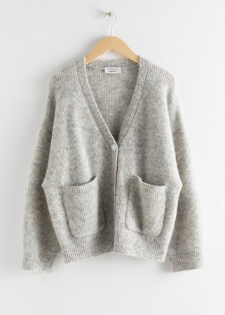 Alpaca Wool Blend Cardigan - Grey - Cardigans - & Other Stories