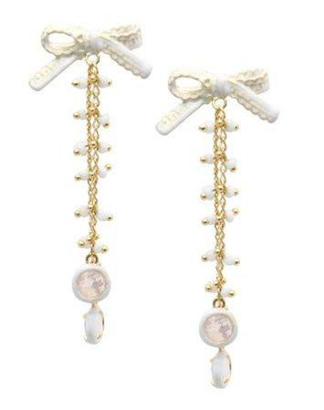 La Hormiga Pizzo White - Earrings - Women La Hormiga Earrings online on YOOX United States - 50219070EX