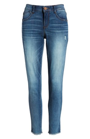 Wit & Wisdom Luxe Touch Fray Hem Ankle Skinny Jeans (Nordstrom Exclusive) | Nordstrom