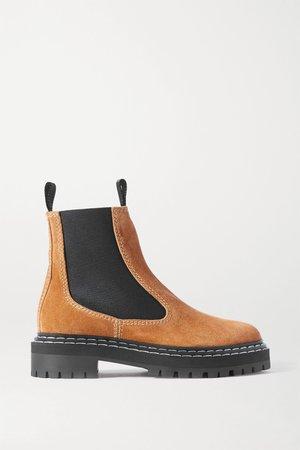 Tan Suede ankle boots | Proenza Schouler | NET-A-PORTER