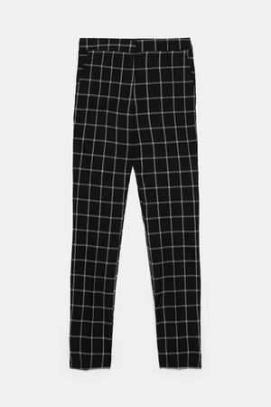 CHECKERED JOGGING PANTS - View all-PANTS-WOMAN | ZARA United States