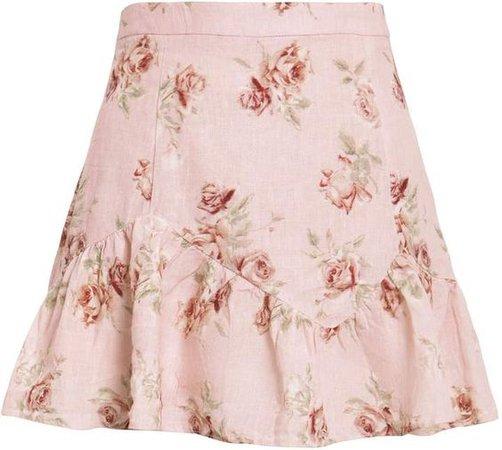 (18) Pinterest - LoveShackFancy Eliza Floral Mini Skirt | Products