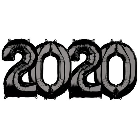 New Year's 2020 26in Black Number Balloon Kit | Party City Canada