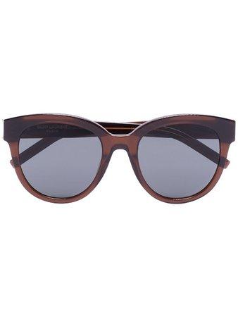 Saint Laurent Eyewear round-frame Tinted Sunglasses - Farfetch