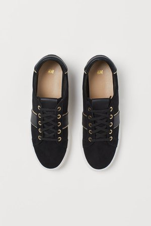 Trainers - Black/Gold-coloured - Ladies | H&M