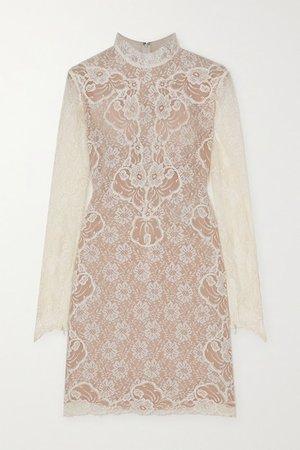 Lace Mini Dress - White