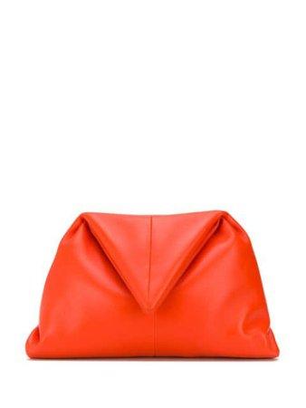 Bottega Veneta Triangular Fold Angular Clutch 622712VCP30 Orange | Farfetch
