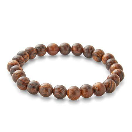 Men's Tigerwood Bead Bracelet