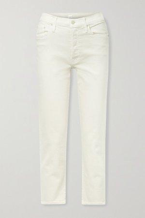 The Tomcat High-rise Straight-leg Jeans - Cream