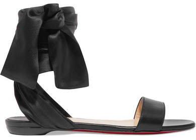 Sandale Du Desert Leather And Satin Sandals - Black