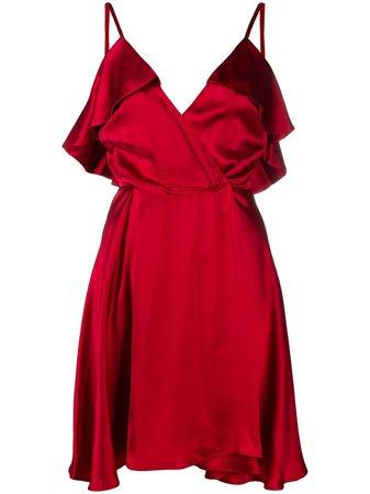 John Richmond Draped V-neck Slip Dress - Farfetch