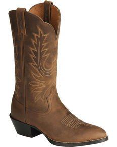Old West Distressed Leather Cowgirl Boots   Boot Barn