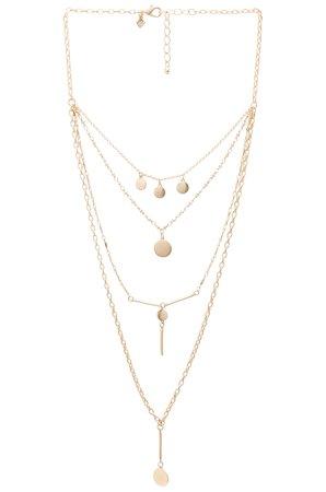 Circle & Bar Layered Necklace