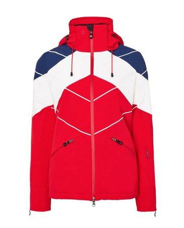 Womens Padded Chamonix Ski Jacket Red | Perfect Moment