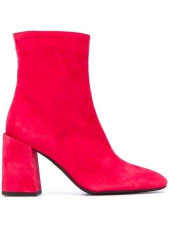 Furla Side Zipped Ankle Boots - Farfetch