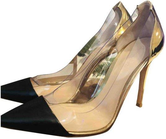 Plexi Black Leather Heels