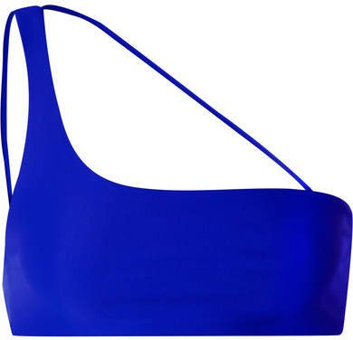 Apex One-shoulder Bikini Top - Bright blue
