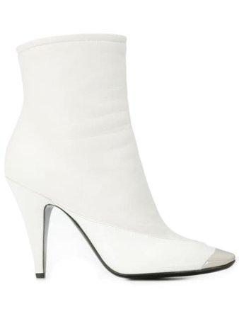 Emilio Pucci Square Toe Ankle Boots 9UCE309UX05 White | Farfetch