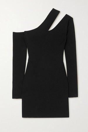 Shani Cutout Stretch-knit Mini Dress - Black