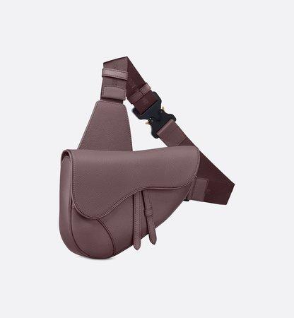 Saddle bag in pink calfskin - Leather goods - Men's Fashion | DIOR