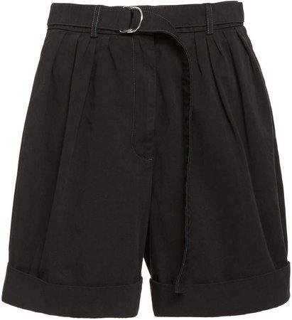 Rowanne Belted Cotton-Twill Shorts