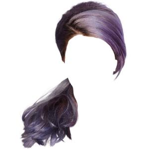 purple hair png ponytail