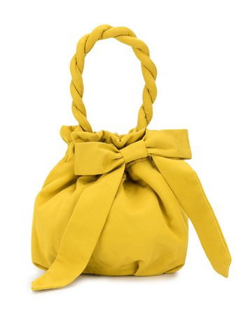 Yellow STAUD bow-detail tote bag 2569353GOLD - Farfetch