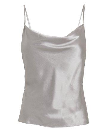 Fayette Cowl Neck Silk Camisole