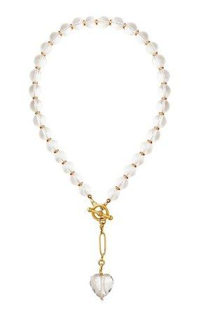 Speechless24k Gold-Plated & Crystal Quartz Necklace By Brinker & Eliza | Moda Operandi