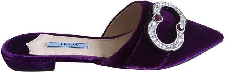 Purple Velvet Sandals
