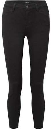 Alana Cropped High-rise Skinny Jeans - Black