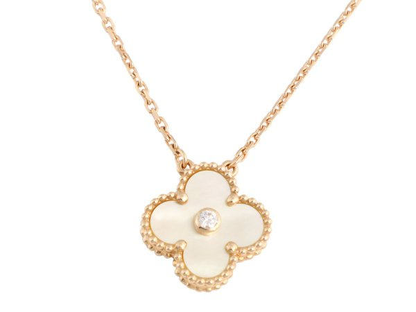 van cleef necklace mother of pearl and diamond