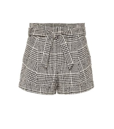 Michel belted tweed shorts