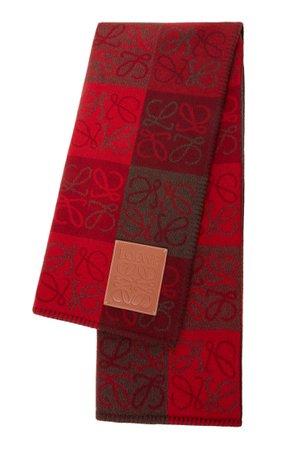 Intarsia Checked Wool Scarf By Loewe | Moda Operandi