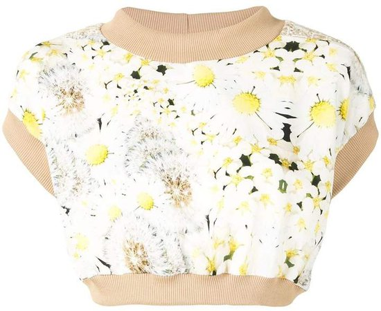 Tata Christiane Floral-Print Cropped Top