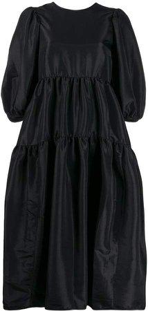 Cecilie Bahnsen open back silk dress