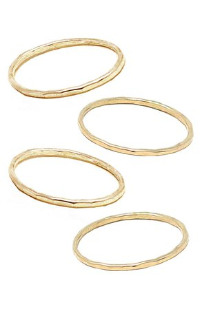ABLE Set of 4 Hammered Stacking Rings | Nordstrom
