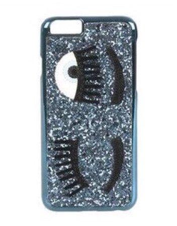 blue glitter eyes phone case