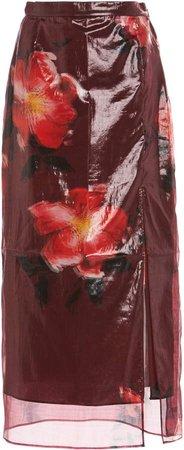 Altuzarra Alvin Floral Vinyl Skirt
