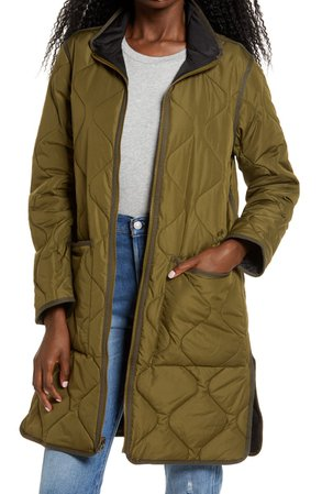 Thread & Supply Reversible Quilted Longline Jacket | Nordstrom
