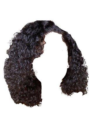 wet wavy curly hair