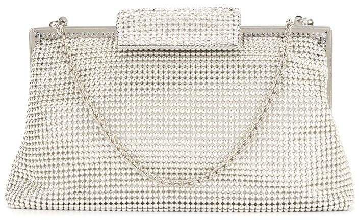 Whiting And Davis embellished clutch bag