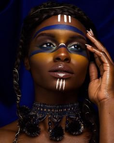 editorial make up african tribal paint - Google Search