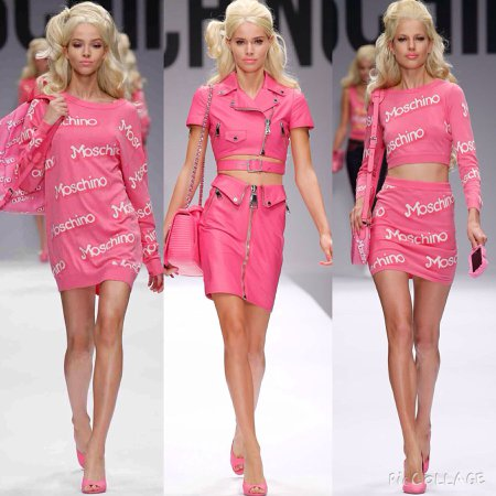 moschino runway show barbie collection