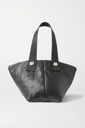 Tobo Leather Tote - Black