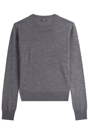 Layered Wool Pullover Gr. S